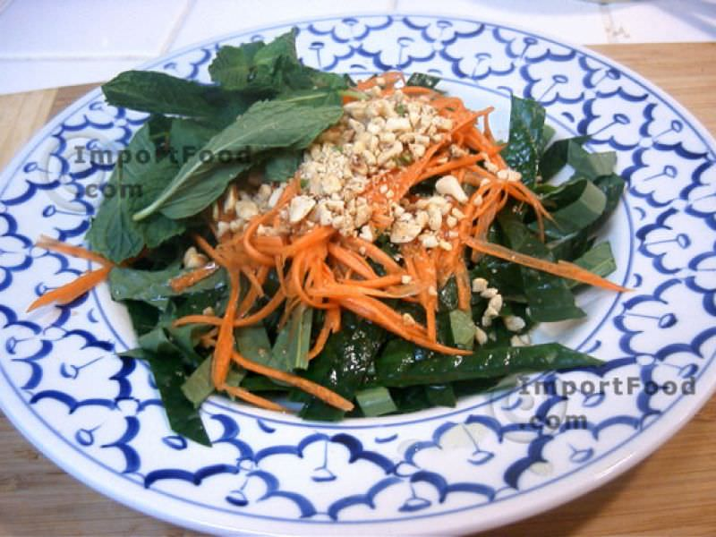 Betel Leaf Salad with Shredded Carrot