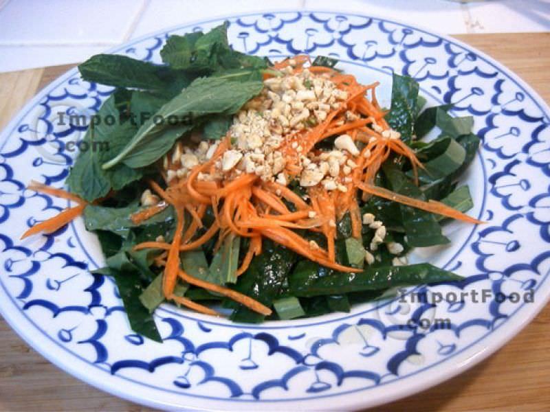 Betel Leaf Salad with Shredded Carrot