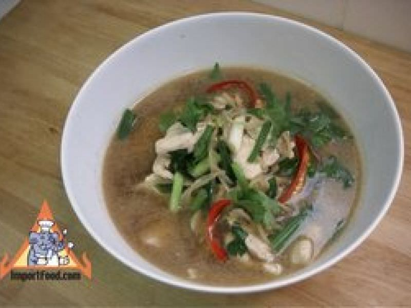 Thai Chicken and Ginger Soup, 'Gai Joo Khing'