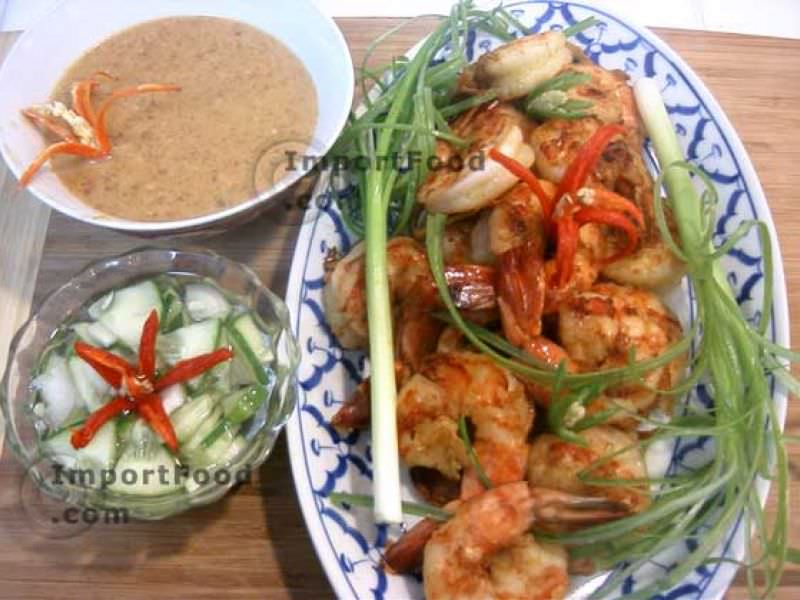 Thai Prawn Satay with Cucumber Salad