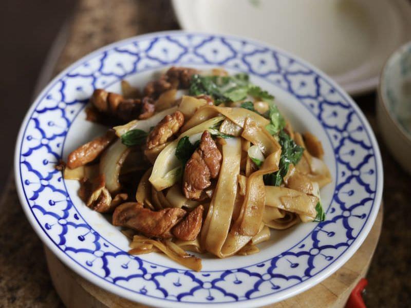 Thai Druken Noodles, Kee Mao, Chicken