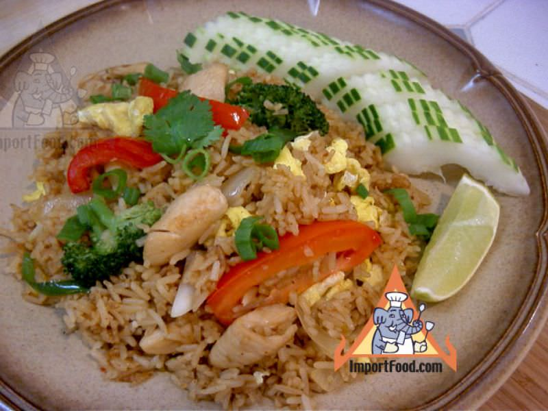 Thai Fried Rice with Chicken,