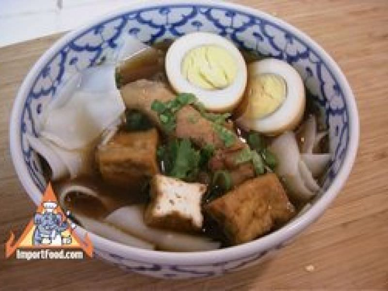 Thai Five-Spice Soup with Rice Chips,