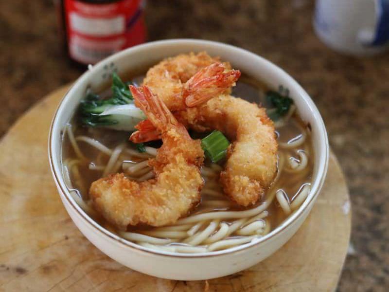 Japanese Udon Soup w/Panko Shrimp