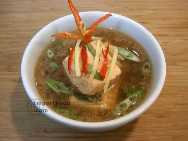 Salmon in Spiced Tamarind Soup, 'Tom Som Pla Salmon'
