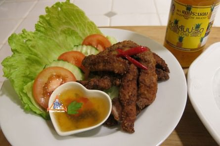 Thai Fried Pork Strips, 'Moo Kratiem Chup Paeng Tod'