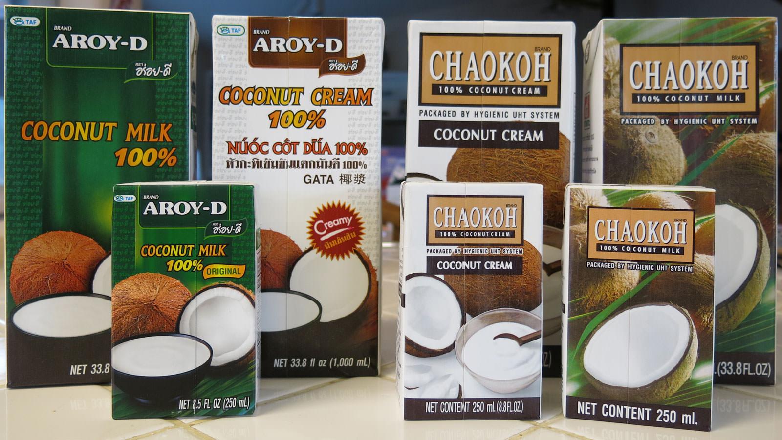 Thai Coconut Milk and Cream, All Natural :: ImportFood