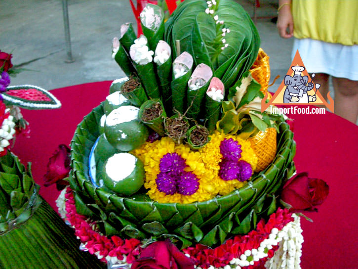 The Traditonal Thai Wedding And Food In The Celebration