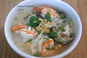 Thai Rice Soup with Shrimp, 'Khao Tom Goong'