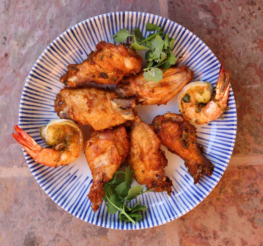 Thai-Style Fried Chicken Wings