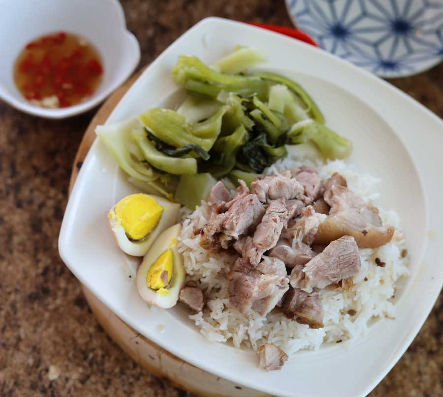 Pork Leg on Rice, 'Khao Kha Moo'