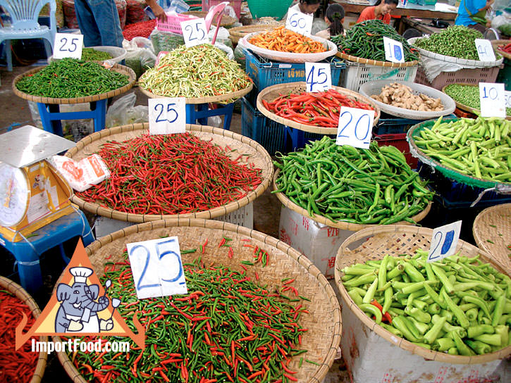 Fresh Thai Chile Peppers :: ImportFood