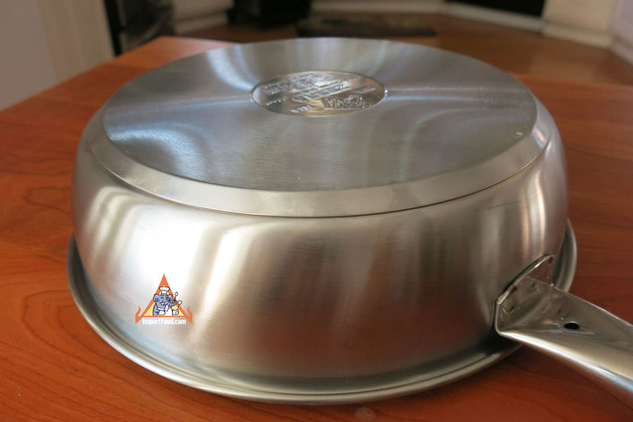 Thai Stainless Frying Pan Zebra Head Chef Series 10