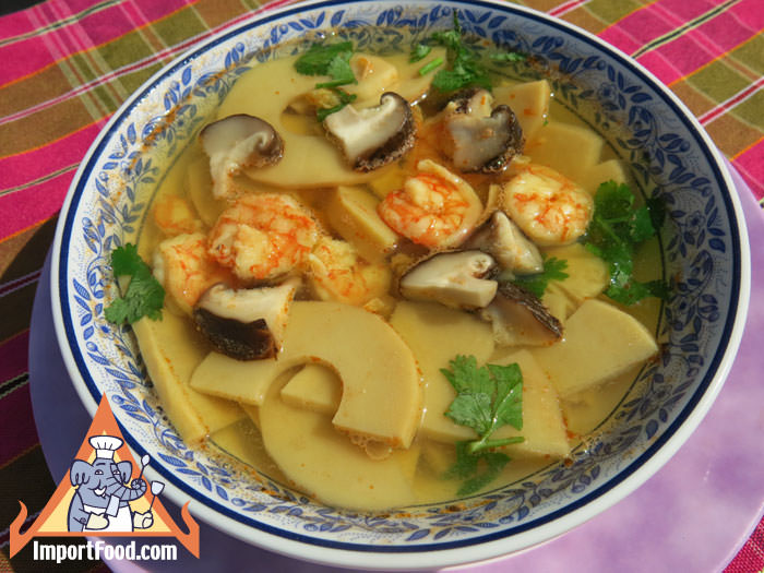 Bamboo And Shrimp Soup