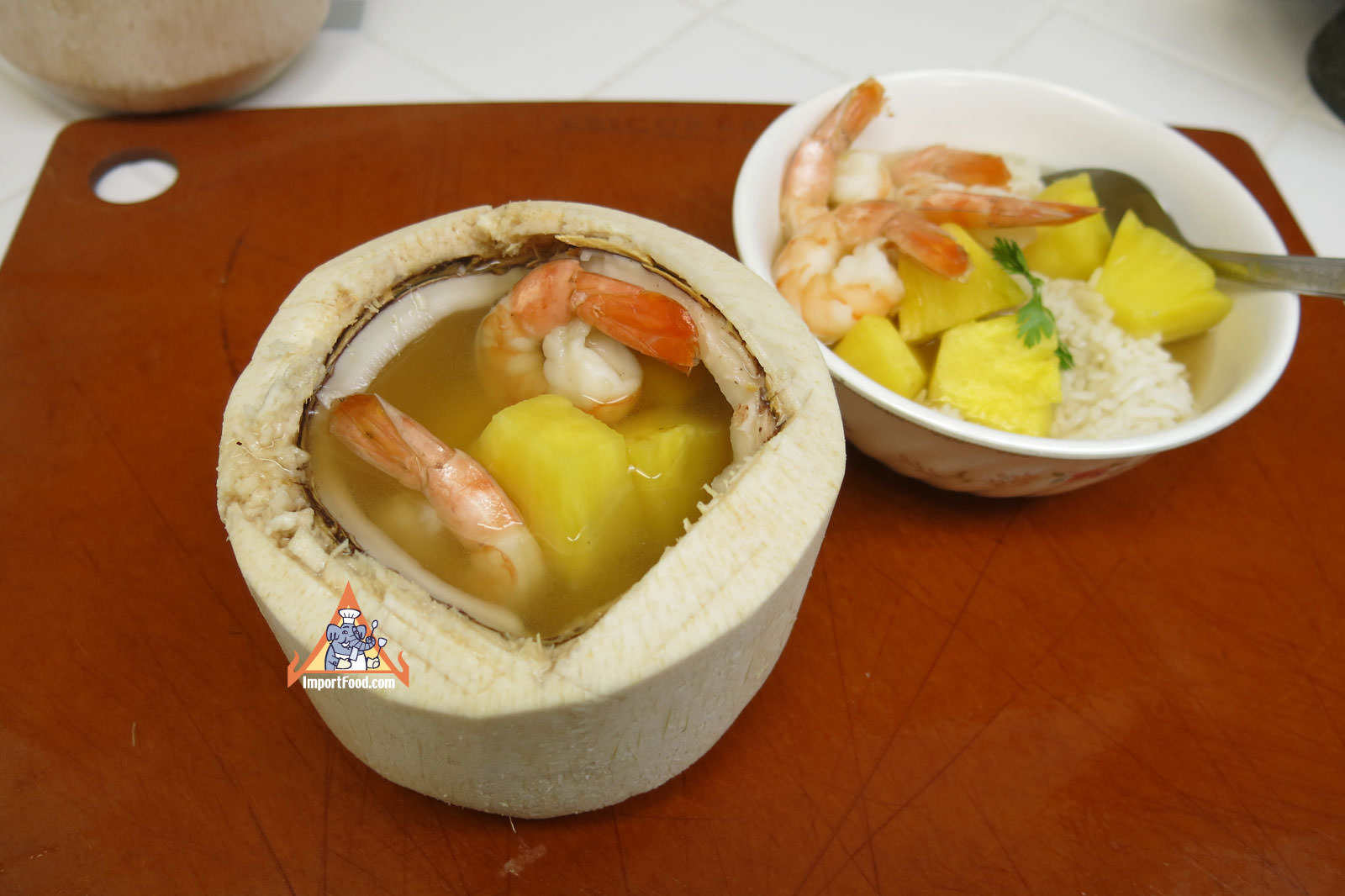 Young Coconut And Pineapple Soup