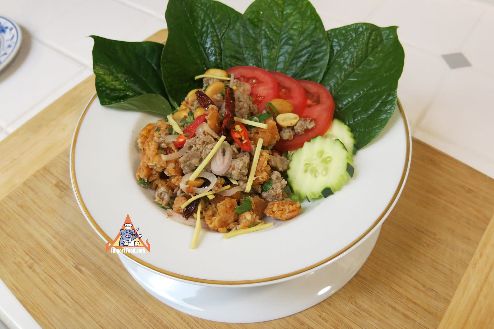 Serve with fresh betel leaves