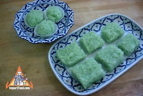 Crystal sticky rice khao neow keaw