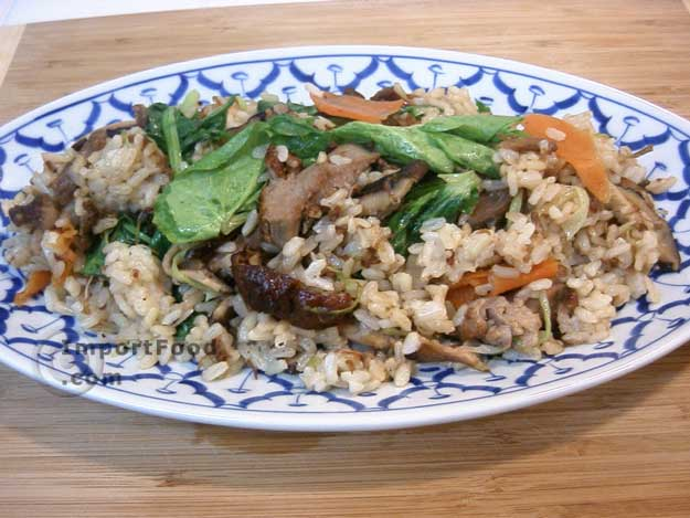 duck fried rice with tamarind sauce