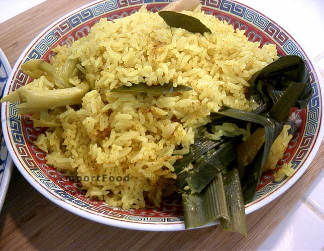 Festive yellow rice nasi kuning
