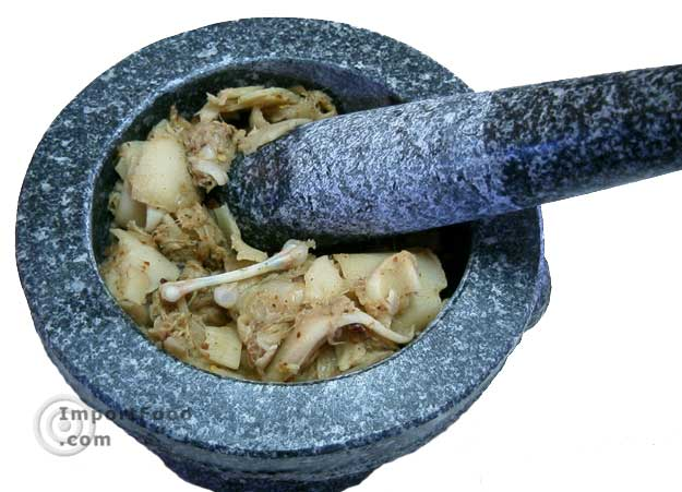 Gently mix together in a mortar and pestle