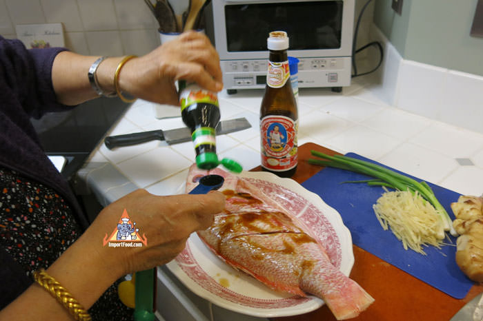 Rub Seasoning Onto Fish