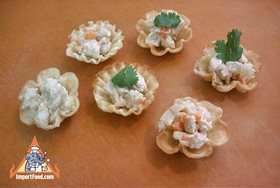 Golden thai pastry cups kratong tong