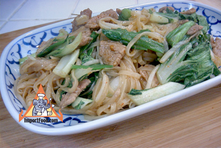 Korat style stir fried noodles pad korat