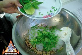 Mixing the larb