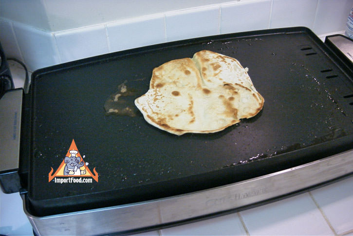 Cook on hot griddle with margarine