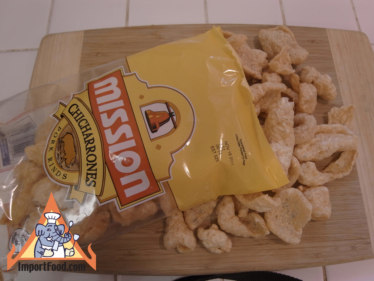 Fried pork rind from texas