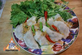 Steamed thai dumplings pun sip neung