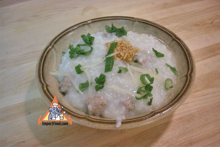Pork congee rice porridge