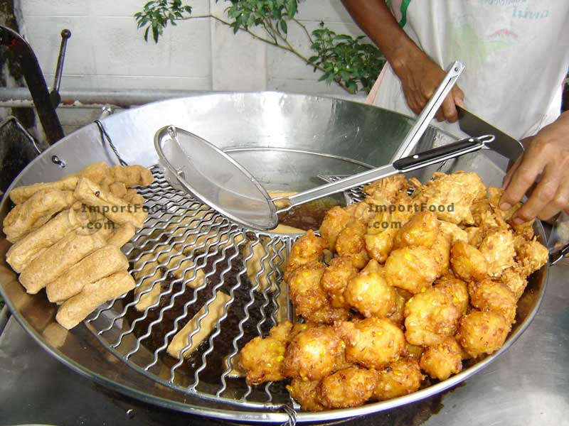 Recipe thai fried tofu taro and corn cakes importfood method dipping sauce forumfinder Choice Image