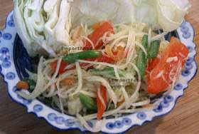 Papaya salad som tum