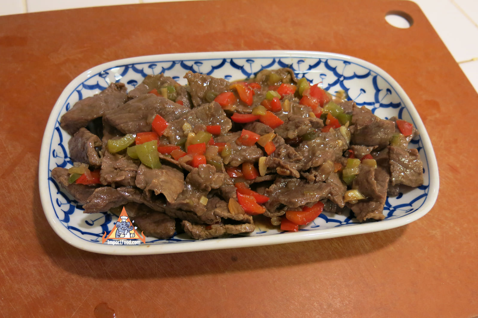 Thai pepper steak