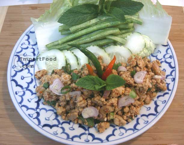 thai chicken with mint leaf recipe