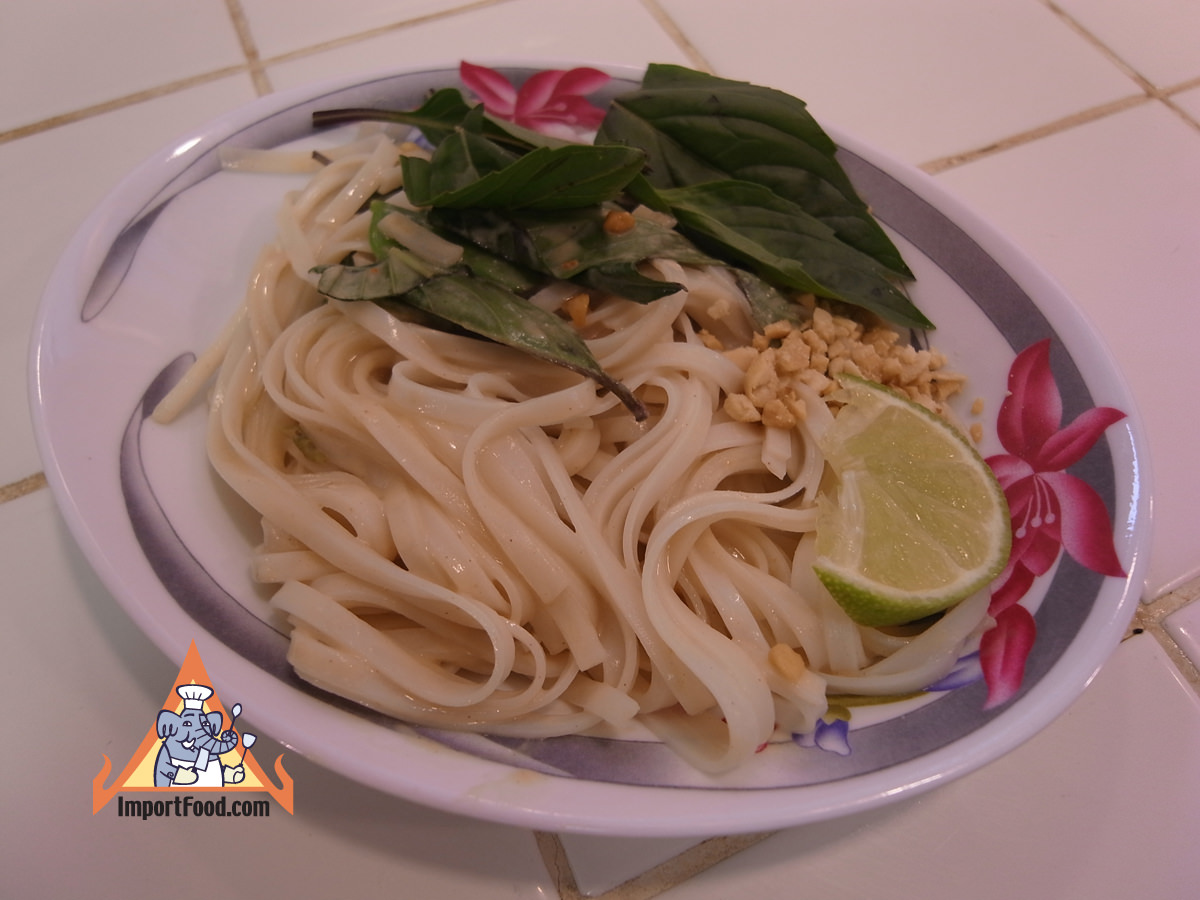 Noodles with peanut basil sauce