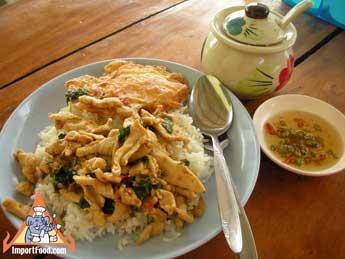 Thai Basil Chicken with Egg