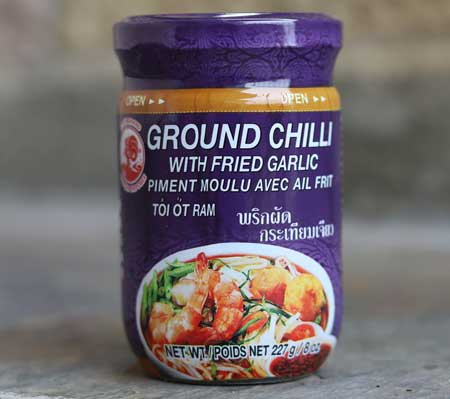 Thai Ground Chili with Fried Garlic - Cock Brand