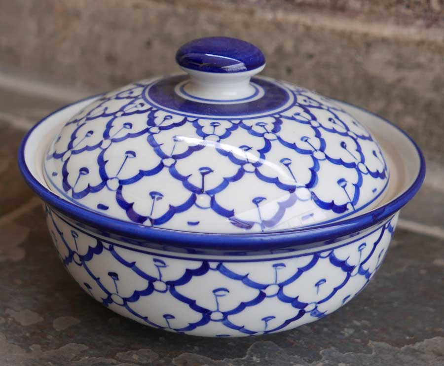 Thai Ceramic, 7 inch serving bowl w/lid