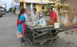 Ancient Thai Teak Wood Food Cart