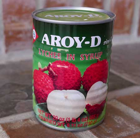 Thai Lychee in Syrup, 20 oz can, Aroy-D