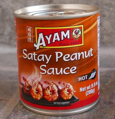 Satay Sauce, Ayam Brand, 10 oz - Hot
