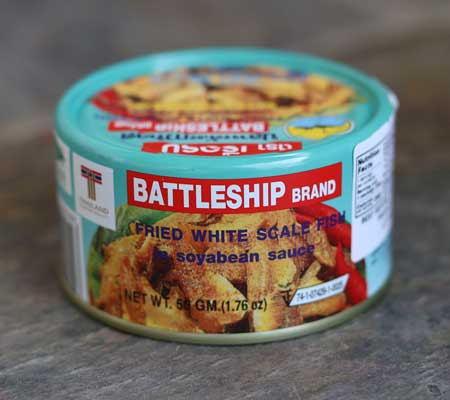 Fried White Scale Fish - Battleship Brand