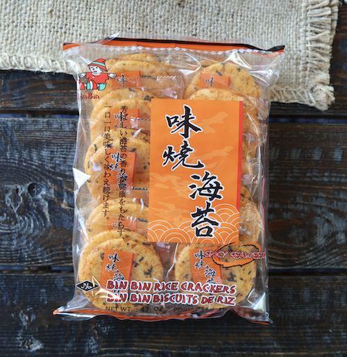 Bin Bin Spicy Seaweed Rice Crackers, 4.7oz