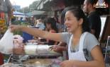 Thai Street Vendor prepares Bua Loi