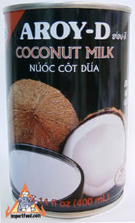Thai coconut milk, Aroy-D brand 14 oz can