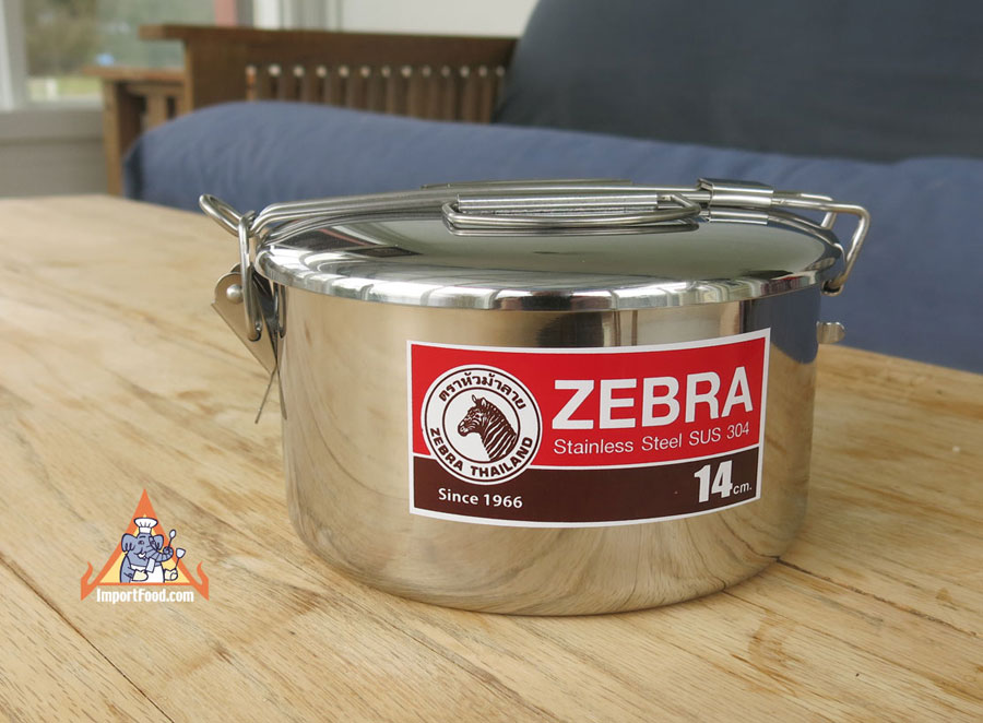 Camping Pot, stainless steel, Zebra Thailand