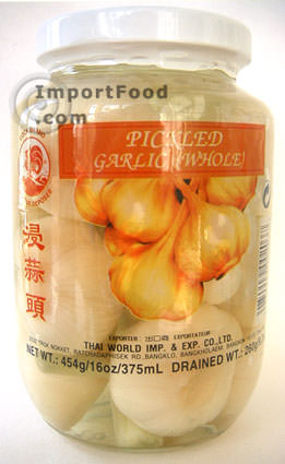 Thai garlic, pickled (whole), 16 oz jar