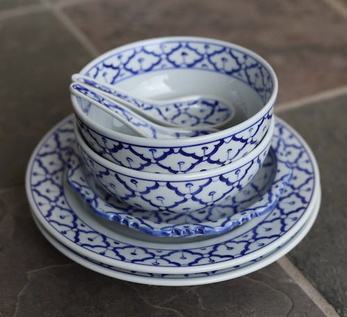Handpainted Thai Ceramic Collector Set